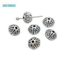Buy JAKONGO Spacer Beads Antique Silver Plated Loose Beads Jewelry Making Bracelet Jewelry Accessories DIY Handmade Craft 6mm for $1.55 in AliExpress store