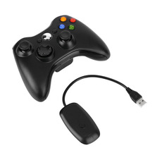 Black 2.4G Wireless Gamepad Joypad Game Remote Controller Joystick With Pc Reciever For Microsoft For Xbox 360 Console