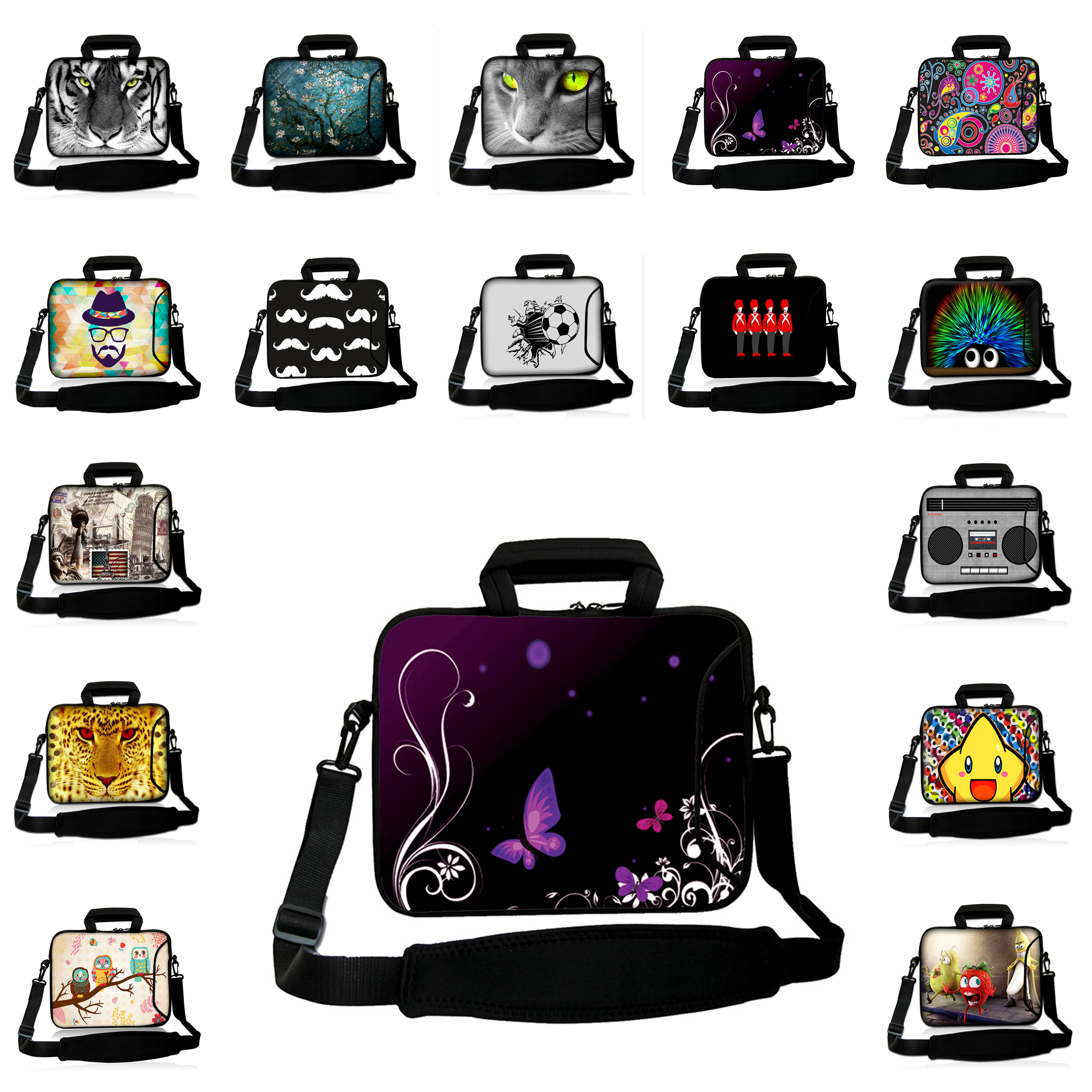 15 inch Newest Neoprene Laptop Cases 15.6 15.3 15.4 inch Shoulder Strap Notebook Bags For Lenovo Sony Fashion Laptop Cover Pouch<br><br>Aliexpress
