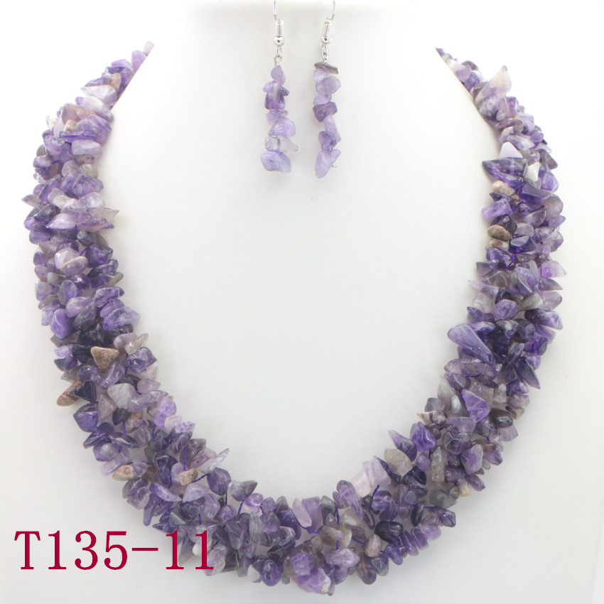 11 Natural purple Amethyst Necklace (7)