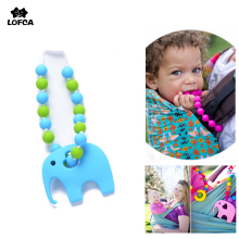 Silicone Baby Toy Fashion Accessory For Baby Carrier Chain Food Grade Silicone Carrier Bead Elephant Teething Toys(China)