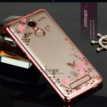 Ringcall For Xiaomi Redmi Note 2 Note 3 Pro Prime Note 4 4X Royal Luxury Silicon Diamond Crystal Glitter TPU Soft Back Cover