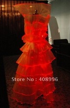 Optical fiber luminous formal attire for party/2012 royal wedding dresses/fashion dress/evening dress/prom dress(China)