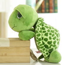 2016 1pcs 18cm Cute Kawaii Green Tortoise Stuffed Animal NICI Toy High Quality Soft Doll Baby Toy(China)