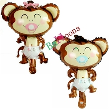 Newest Cartoon baby Monkey unicorn Animal Foil Balloon kids Toys Birthday wedding Decoration Balony Globos Party Supplies Balls