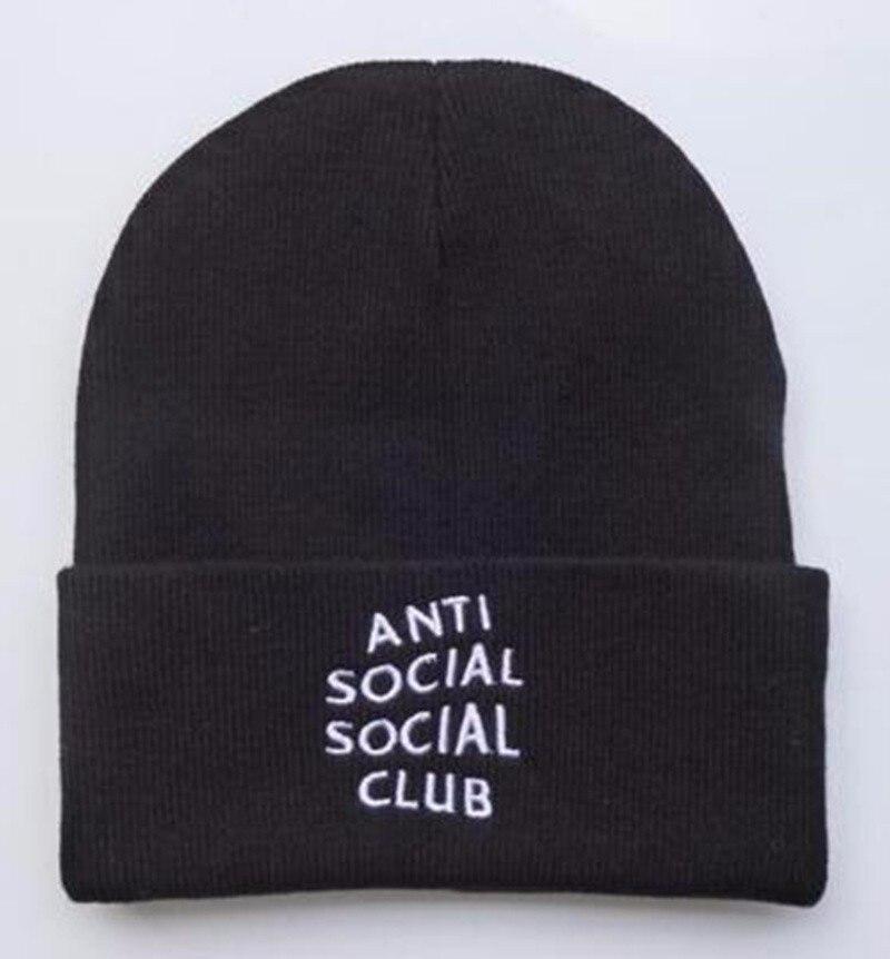 New 2016 Winter Hats Anti Social Social Club Embroidered Printed Hat Female Travis Scotts  Warm  Men Women  Skullies BeaniesÎäåæäà è àêñåññóàðû<br><br><br>Aliexpress