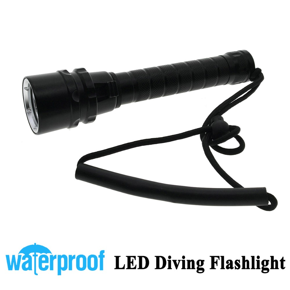 New Professional Diving Up to 100m depth 3x CREE XML 6000Lm T6 LED Diving Light Flashlight Flash Torch<br>