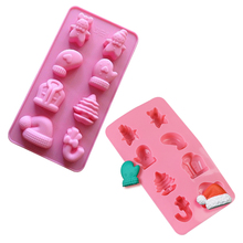 Christmas Silicone Mold Xmas Fondant Cake Decor Soap Clay Molds DIY Chocolate Candy Pastry Cookie Pudding Ice Mould Baking Tool