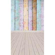 Vinyl print cloth colorful wood plank with floor photography backdrops for model photo studio portrait backgrounds props F-1536