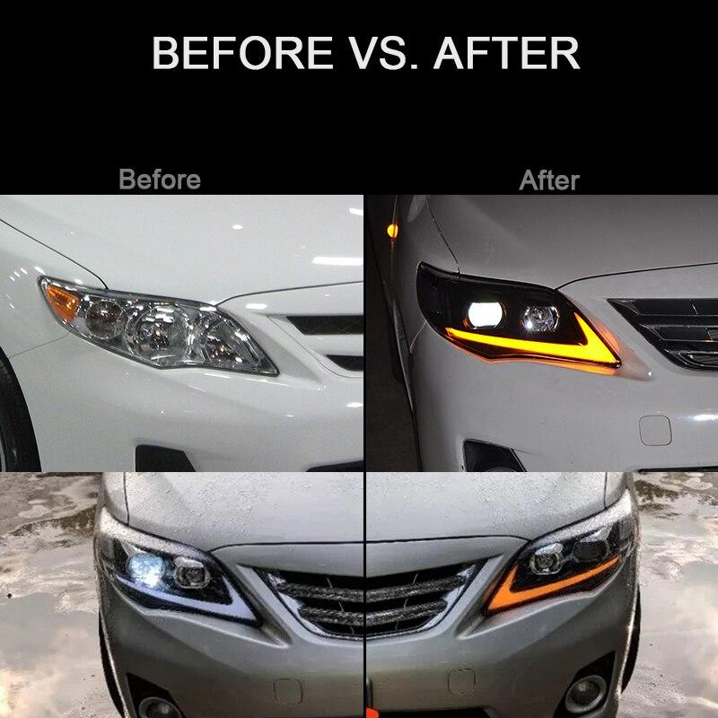 CNSUNNYLIGHT For Toyota Corolla 2011 2012 2013 Car Headlights Assembly With LED DRL Turn Signal Lights Plug & Play Head Lights (1)