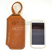 [X-5012] DIY handmade leather bag leather ipone mobile phone set pattern paper drawings.