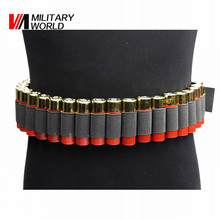 Tactical 29Rounds Shotgun Shell Ammo Pouch Bullet Waist Belt Combat Lightweight Airsoft Ammo Pouches Hunting Gun Accessory #(China)