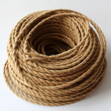 2*0.75mm2 5M/Lot Edison Vintage Electrical Wire Rope Twisted Wire Retro Textile Braided Cable Pendant Light Wire Lamp Cord(China)