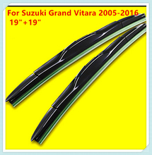 "3 Section Rubber Windscreen Wipers For Suzuki Grand Vitara 2005 2006 2007 2008 2009 2010 2011 2012 2013 2014 2015 2016 19""+19""(China)"