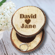 Personalized Name with Heat Memory Wooden Ring Box Wedding/Valentine's Day or Anniversary Decoration Favors Wonderful Memory