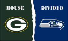 Green Bay Packers vs Philadelphia Eagles House Divided Rivalry Flag 3*5FT Two Metal Grommet White Sleeve(China)