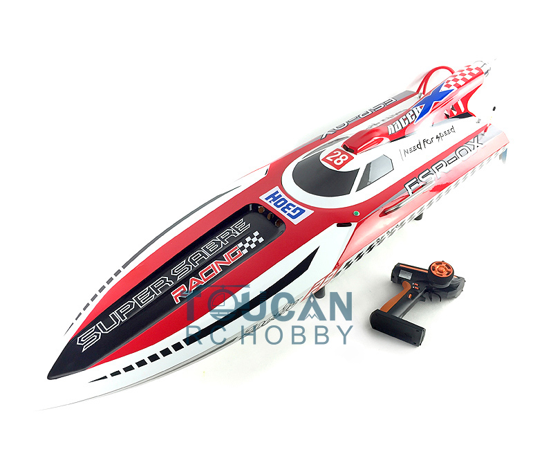 "G30H ARTR-RC 54"" 30CC Engine Gasoline Fiber Glass RC Racing Boat W/Remote Controller RED"