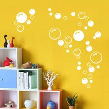 Modern Circle Bubble Pattern Bathroom Products Wall Stickers Home Decor Waterproof Wallpaper Blue Freen Orange White 21*42CM(China)