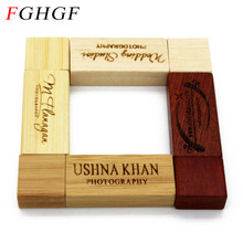 FGHGF Personality LOGO Wooden memory Stick usb 2.0 usb flash drive pen drive pendrive 4GB 8GB 16GB 32GB U disk wedding gift(China)