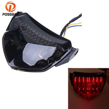 POSSBAY Motorcycle Rear Taillight LED Lights Cafe Racer For SUZUKI suzuki GSXR 600 2004-2005 Tail Brake Led Turn Signals Light(China)