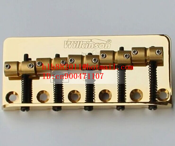 free shipping new 5 strings electric bass guitar bridge in gold  WBBC5    L28<br>