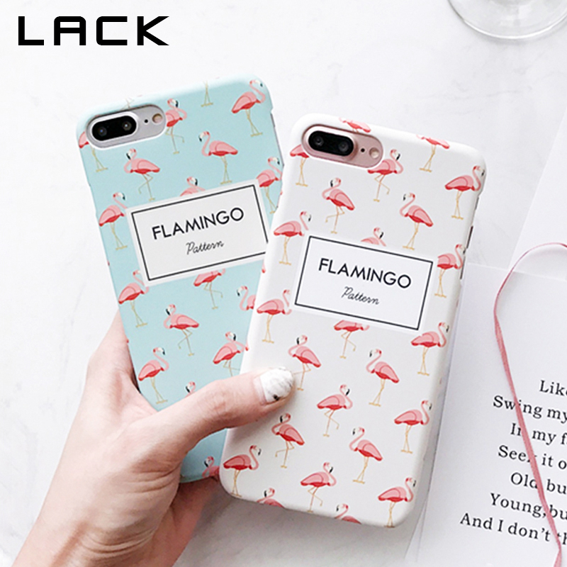 LACK Lovely Animal Flamingos Phone Case iphone 8 Case Apple iphone8 8 Plus Cover Fashion Ultra thin Hard PC Matte Cases