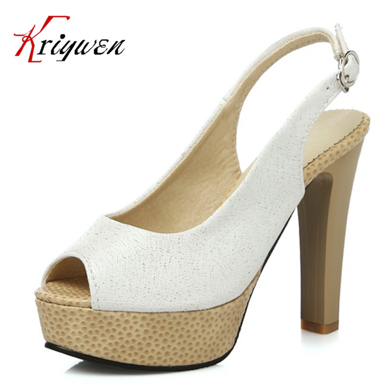 Plus size 32-43 luxury Brand sexy High Heel open toe shoes wedding party women thick soles bottom high heels shallow pumps party<br>