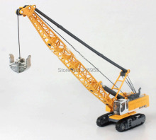 Large crane tower cable mining model scale 1:87 ABS Alloy Diecast Engineer Machine rubber Capterpillar mine excatator model toys(China)