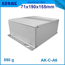 4 pcs/lot silver medium wall-hanging aluminum enclosure for electronics and project, oxidized and powdedered.