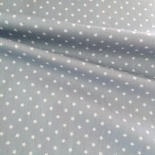 200*160cm 100% Cotton twill cloth nordic wind gray/white stars for DIY kids bedding handwork crafts cushions home decor fabric(China)