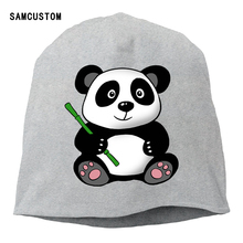 SAMCUSTOM Custom 2017 Women Beanies Scarf Cap Knitted Cap China Panda Men Hip Hop Hat Skullies Cap Headgear(China)