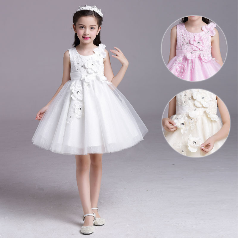 kids clothes flower girls dresses summer for party and wedding pageant wear 2017 teenage girl clothing age 2-8-10 11 to 12 years<br>