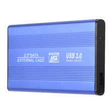 "Hot USB 3.0 HDD SSD SATA External Aluminum 2.5"" Hard Drive Disk Box Enclosure Case up to 1TB 2.5"" SATA external case(China)"