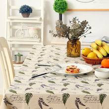 Leaves Pattern Pastoral style Tablecloth Cotton Linen Dinner Table Cloth Macrame Decoration Lacy Table Cover Washable Hot