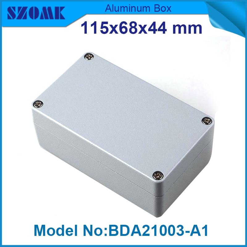 10 pieces waterproof aluminium enclosure 44(H)x68(W)x115(L) mm aluminium extruded enclosure<br><br>Aliexpress