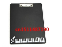 Office document plate clip special fashion piano keyboard A4 board folder features brand stationery music party favors N/8