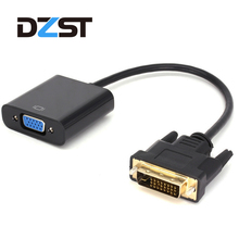 DZLST DVI-D 24+1 to VGA Cable Active Full HD 1080P DVI to VGA Male to Female 25 Pin Video Converter for Desktops laptops PC(China)