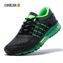 Air Women Running Shoes for Men 2017 Unique Shoe Tongue Athletic Trainers Black Green Breathable Sports Shoe Cushion Sneakers(China)