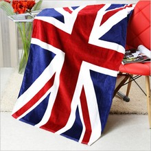 New flag beach towel U.S. English Union Jack Canada, Europe and the United States Dollar towels RN305 70x140cm