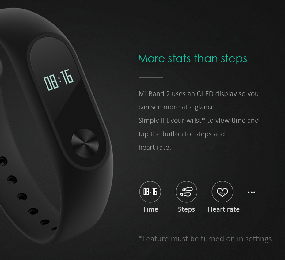 Original Xiaomi Mi Band 2 Wristband Optional Colorful Straps Sleep Tracker IP67 Waterproof Smart Mi Band For Android IOS Phones 2