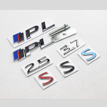 2.5 3.7 Blue Red S IPL Emblem Chrome Metal Refitting Car Styling Grille Trunk Fender Discharging Sticker for Infiniti Q50 Q50L