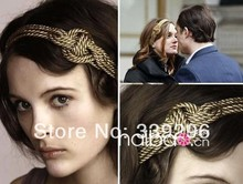 2017 New arrival girl's jewelry hair accessories movie gossip girl hairbands woven headband Blair free shipping 2pcs/lot