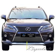 For Lexus RX 2013+ Grill Grille Front Bottom Racing Cover Trim High Quality New Aluminum Alloy(China)