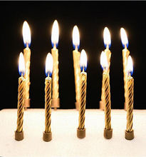 Gold /Silver Happy Birthday Cake Candles Funny Birthday Wedding Xmas Candles