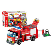 Fire Fight Fire Engine Series Building Block Truck Compatible Education DIY Toy For Children Diecasts & Toy Vehicles