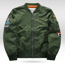 Autumn Air Force One Pilot Jacket Men Chaquetas Hombre 2017 Casual Mens Jackets And Coats MA01 Bomber Jacket Men Army Green Blue(China)
