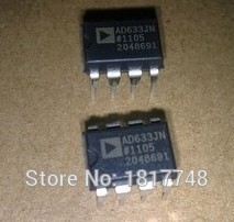 5pcs free shipping AD633JNZ AD633JN AD633 chip four road 4 quadrant multiplier of 2% 1MHz DIP-8 100% new original