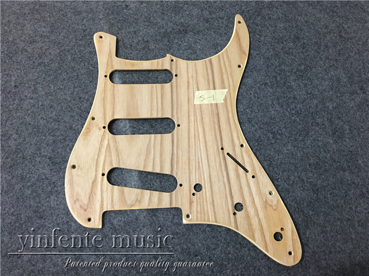 New Electric Guitar Pickguard flame maple wood SSS S trat Guitar parts #181-1<br>