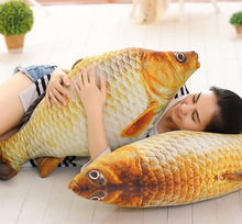 New 3D Grass Carp Pillow PP Stuffed Plush Simulation Animal Fish Toy Big Classic 40/60cm 1pcs Children Lovers Birthday Gift 037