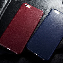 Flexible Soft TPU Case For iPhone 6 6S Plus 5 5S SE for Samsung S7 / Edge Leather Pattern Back Rubber Phone Cover Silicone Case